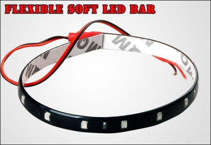 YITA - 10x 15 LED 30CM Red Waterproof Car Decration Flexible Light Strip Bar 12V