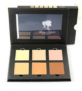 Beauchique Cosmetics Cream Contour Kit - Premium Highlighting Makeup Contouring Kit Palette with Smooth, Pigmented Cream (Light) - Flake-Free, Vegan, Cruelty Free & Hypoallergenic