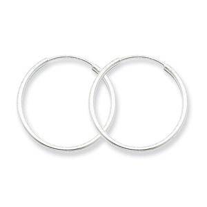 .925 Sterling Silver 22 MM Classic Endless Hoop Earrings