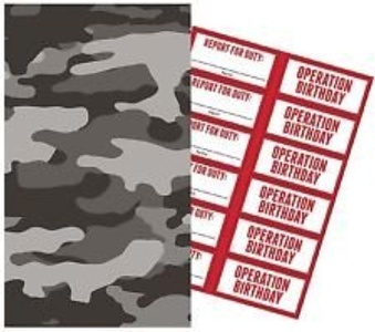 Operation CAMO Party PAPER Loot Bags With Stickers - Pack of 6 by Party Stuff 4U Operation Camo party