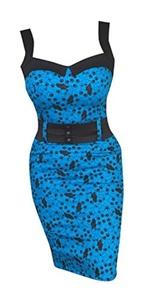 Switchblade Stiletto Women's Darling Dress (XX-Large, Boston Terrier)