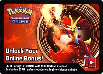 Pokemon Delphox Tin Promo Code Card for Pokemon TCG Online by Pokemon Delphox Tin