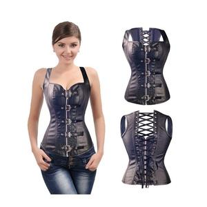 Miami Dress Women's Bustier Renaissance Corset Shapewear leather corset Punk Gothic palace zipper buckle functional corset
