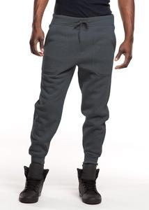Royal Blue Apparel Men's Slim Fit Harem Jogger Pants (Charcoal, XX-Large)