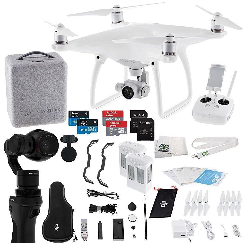 DJI Phantom 4 Quadcopter + Osmo Videographer Essentials Bundle