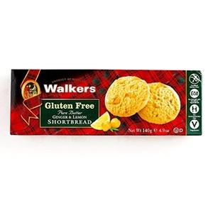 Walkers Gluten-Free Ginger and Lemon Shortbread 4.9 oz each (2 Items Per Order) by Walkers Gluten-Free