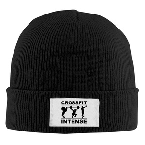 CrossFit Intense 1 Unisex Cool Black Wool Winter Knit Hats One Size