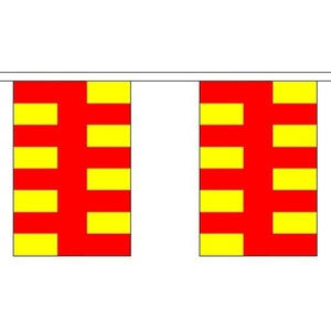 Northumberland 9M Long - 30 Flags Bunting England English County Decoration by Northumberland