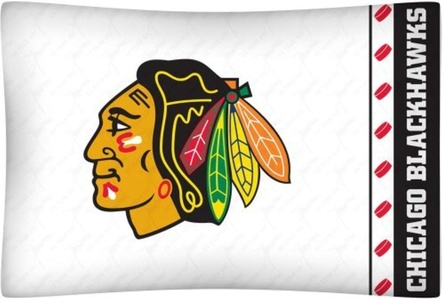 NHL Chicago Blackhawks Hockey Set of 2 Logo Pillow Cases by NHL