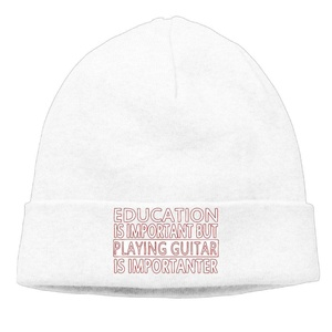 Player Guitar Funny Unisex Style Outdoor Beanies Hat