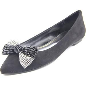 Caparros Zuzana Women Pointed Toe Synthetic Black Flats, Black, Size 8.5