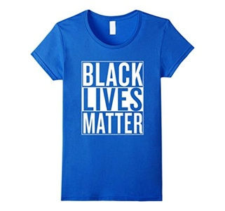 Women's Black Lives Matter Race Unity Say No Racism T-shirt Medium Royal Blue