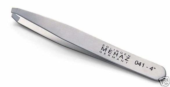 MEHAZ 041 Slanted Tip Stainless Steel Claw Tweezer MC0041 by Mehaz