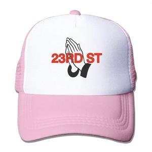 Pray For 23rd St Adult Adjustable Trucker Mesh Hat Baseball Cap Pink