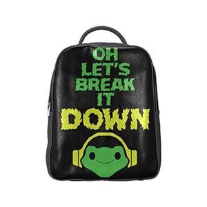 Oh Lets Break It Down Unisex PU Leather Computer Laptop Backpack, Travel Bag Hiking Knapsack,School College Student Backpacks Shoulder Bags for Women/Girls,Men/Boys