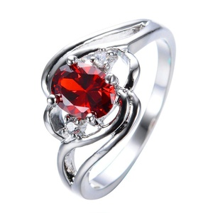 FT-Ring Oval Ruby Cool Style Jewelry Wedding Ring For Women Engagement Wedding Bridal Rings (9)