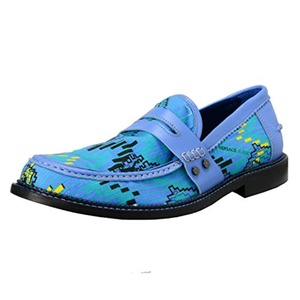 Versace Jeans Men's Canvas & Leather Loafers Slip On Shoes US 11 IT 44