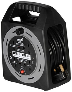SMJ CT1513 - 4SKT 15MTR 13A Cable Reel with Thermal Cut-Out by SMJ Electrical