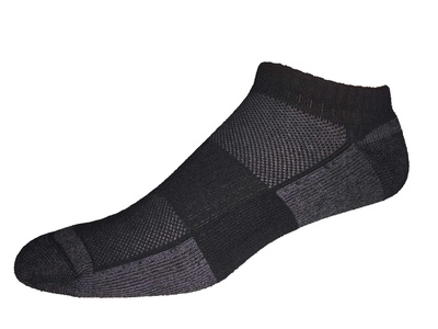 COOLMAX Low Cut No Show Golf Socks Made in USA (small, black)