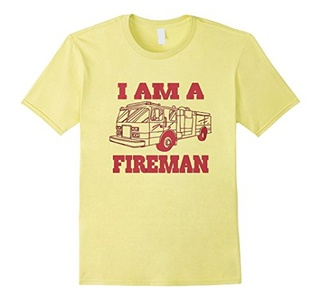 Men's I am a Fireman shirt Large Lemon