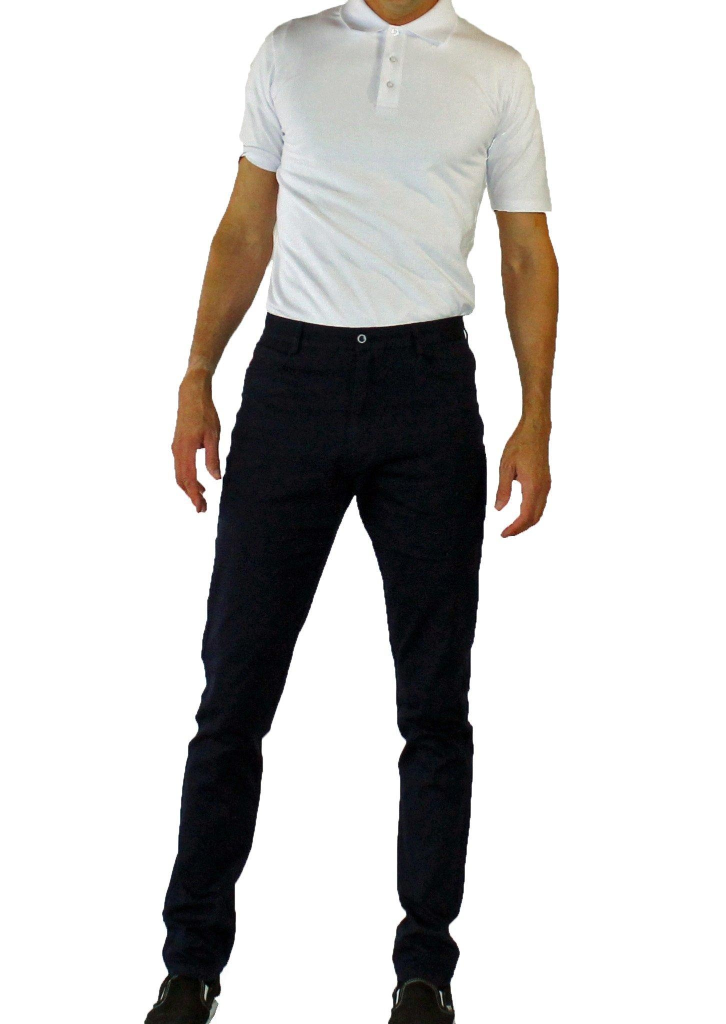 Cleaner Brighter Men's New Style Tall Trim Fit Chinos