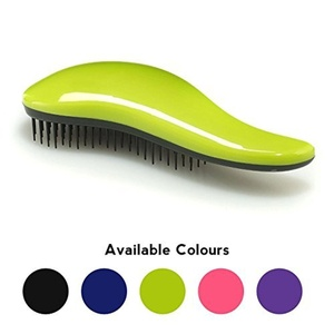 Professional Detangling Salon Hair Brush - for *SMOOTHER & HEALTHIER HAIR* - Tangle Tamer with Magic Handle - *BETTER GRIP & REACH* great detangler for *ALL TYPE of HAIR* including *Extension & WIGS* (Green) by Dtangler