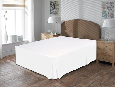 Bedskirt 600 Tc White Solid Cal King Size Bed skirt 16 Drop Length 100% Egyptian Cotton