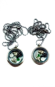 In Memory of Brother By Living Memory Lockets for Less Floating Necklace for Sister Remembrance (Crystal Pendant)