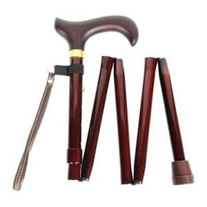 Check Pattern Handbag Folding Walking Stick by Charles Buyers