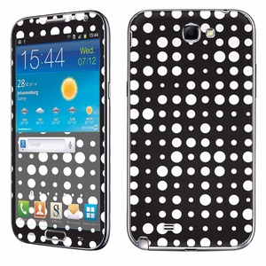 Samsung [Galaxy Note 2] Phone Skin - [SkinGuardz] Full Body Scratch Proof Vinyl Decal Sticker with [WallPaper] - [Polka Dot-Black] for Samsung Galaxy [Note 2]