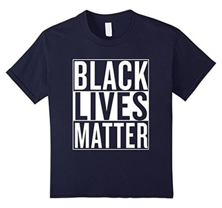 Kids Black Lives Matter Race Unity Say No Racism T-shirt 12 Navy