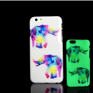 For iPhone 7 Plus Case, Glow in the Dark Elephant Flamingo Pattern TomCase Fluorescent Back Cover for iPhone 7 Plus Case 5.5 inch, P20