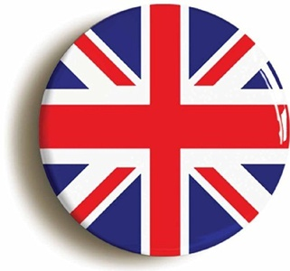 UNION JACK BRITISH FLAG MOD SIXTIES BADGE (Size is 1inch/25mm diameter) by Pin It On