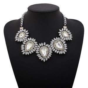 ARICO Bohemian Necklace Geometric Resin Crystal Necklace Ethnic Choker Necklace Vintage Jewelry NE395