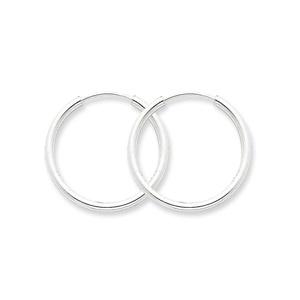 .925 Sterling Silver 26 MM Classic Endless Hoop Earrings