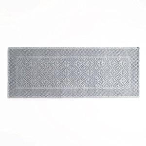 Gray Woven Bath Mat