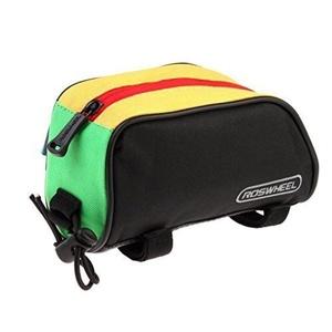 BIKE Cycling Gear/Bag Outdoor Mountain Bicycle Cycling Frame Front Top Bag Bike Pouch (Colour Black/Yellow) by BIKE BAG