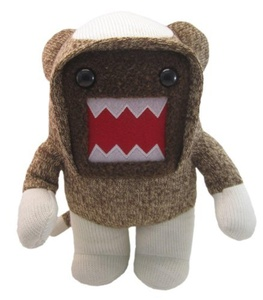 Licensed 2 Play Domo Sock Monkey 6 1/2 Plush by Licensed 2 Play