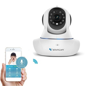 1280 x 720P Home Surveillance Camera Wireless IP Camera Built in Microphone with One Key WI-FI Configuration APP, Motion Detection, Remote Viewing Function, 3dBi WIFI Antenna,P2P Pan Tilt Remote Motion (720P)