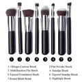 Annengjin?8PCS Makeup Brushes Professional Cosmetics Make up Brush Set Eyeshadow Eyebrow Cosmetics Tools Kit (Black handle+ Silver tube) by Annengjin