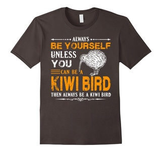 Men's Kiwi Bird Shirt - Always Be Kiwi Bird Shirts Small Asphalt