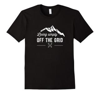 Men's Off The Grid - Living simply Off The Grid T-shirt 3XL Black