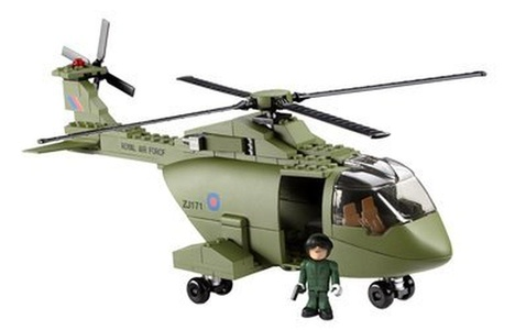 Character Building HM Armed Forces Raf Merlin Helicopter Set by Hm Armed Forces