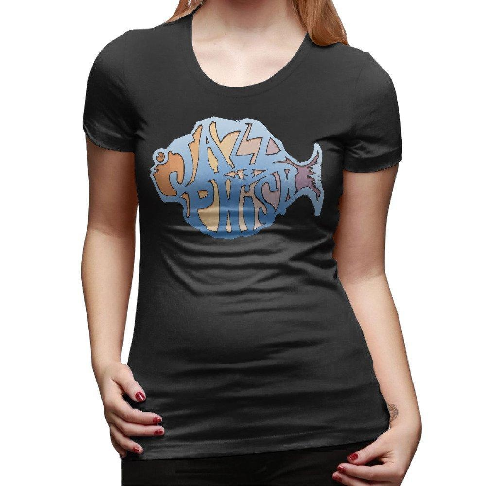 6282cc2a4 Online Store  Phish Fish Band Ladies Short Sleeve Crewneck T-Shirt
