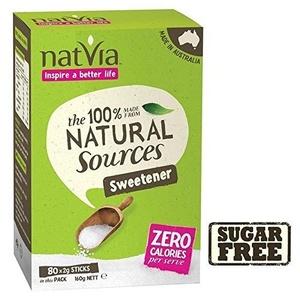 Natvia Sugar Free Sweetener Sticks 80 per pack - Pack of 2 by Natvia