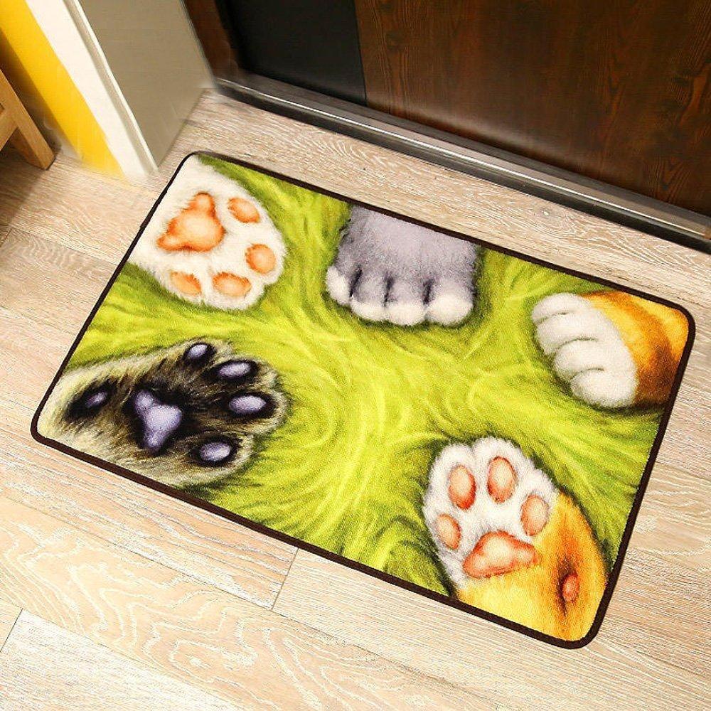 Yellow Kitchen Mats: Online Store: Tidetex Cute Catlike Pattern Small Bedroom