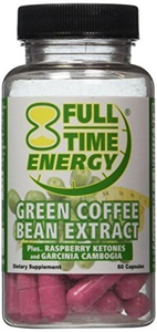 Full-Time Energy Pure Green Coffee Bean Extract Plus Raspberry Ketones and Garcinia Cambogia Complete Complex Capsules- Lose Weight Fast and Burn Fat With These Extreme Weight Loss Diet Pills - The Best Natural Fat Burners and Weight Loss Supplement Formula That Works for Men and Women by Full-Time