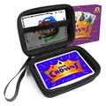FitSand (TM) Zipper Travel Carry EVA Hard Case for Five Crowns Card Game - Black Box, Blacker Box, Best Protection for Five Crowns Cards