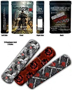 Gears of War 3 - 24 Sterile Bandage Set Band Aids in Collector's Tin! by Gears of War
