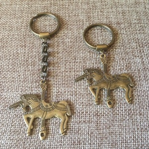 Bronze Unicorn Keychain Zipper Pull